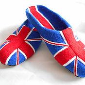 Обувь ручной работы. Ярмарка Мастеров - ручная работа Тапки Британия. Handmade.