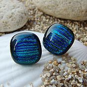 Украшения handmade. Livemaster - original item earrings Pusey of dichroic glass Magic. Handmade.