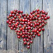 """Сувениры и подарки ручной работы. Ярмарка Мастеров - ручная работа Фотофон деревянный """"Cherry"""" двухсторонний брашированный. Handmade."""