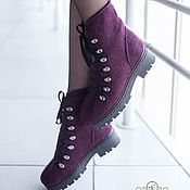 Обувь ручной работы handmade. Livemaster - original item Shoes women`s felted Ripe Plum. Handmade.