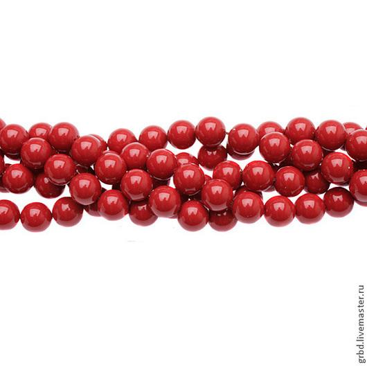 Для украшений ручной работы. Ярмарка Мастеров - ручная работа. Купить Жемчуг Сваровски 8 мм 5810 Red Coral (08-718). Handmade.