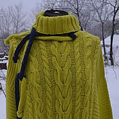 Одежда handmade. Livemaster - original item Knitted sweater with scarf