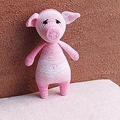 Куклы и игрушки handmade. Livemaster - original item Pale pink pig-a symbol of 2019.. Handmade.