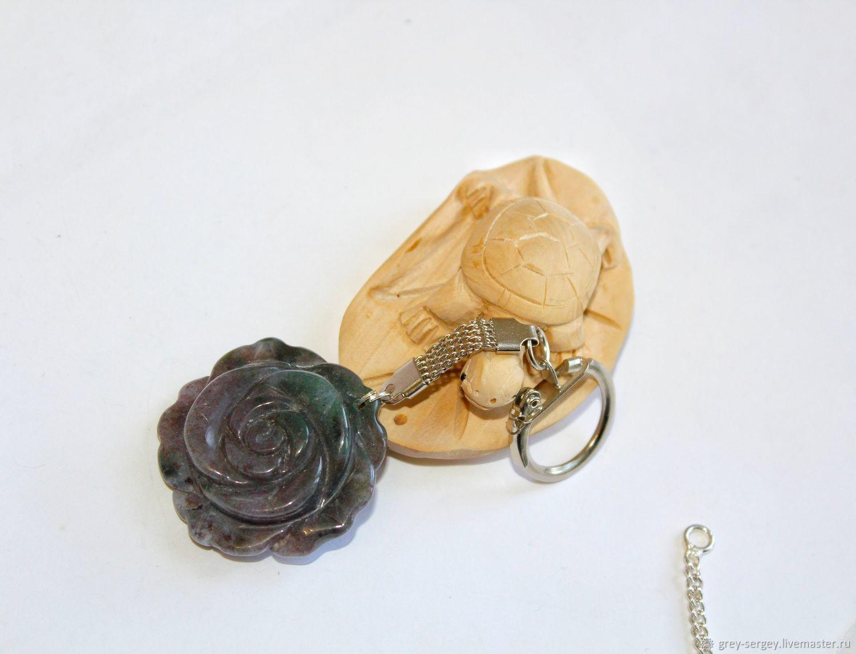 Брелок на сумочку Индийская роза
