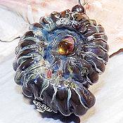 Украшения handmade. Livemaster - original item Grey Ammonite - sea lampwork pendant (reserve). Handmade.