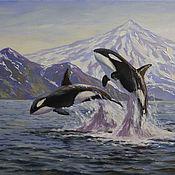 Картины и панно handmade. Livemaster - original item Orca oil painting. Picture. Buy oil painting. Pictures. Handmade.