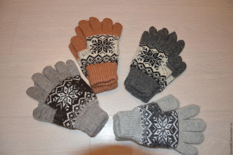 Перчатки шерстяные женские Снежинка, Варежки митенки перчатки, Урюпинск, Фото №1