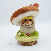 Мягкие игрушки ручной работы. Ярмарка Мастеров - ручная работа Игрушка гриб Боровик. Handmade.