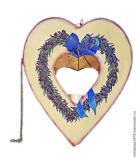 """Подсвечники ручной работы. Ярмарка Мастеров - ручная работа. Купить Подсвечник подвесной """"Лавандовое сердце"""". Handmade. Сиреневый, сердце"""