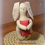 Куклы и игрушки ручной работы. Ярмарка Мастеров - ручная работа Зайка-засыпайка для сладких снов малыша. Handmade.