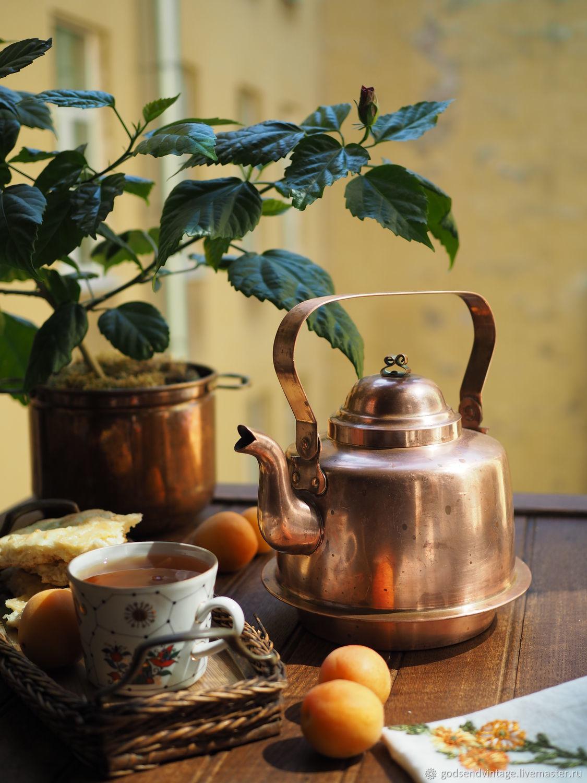 Copper kettle 2,5 liters, Vintage teapots, St. Petersburg,  Фото №1