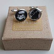 Украшения handmade. Livemaster - original item Silver-plated cuff links Star wars. Handmade.