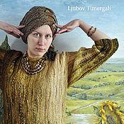 Одежда handmade. Livemaster - original item Hand Knit Dress Elegant Dress Autumn Winter Long Sleeves Sweater. Handmade.