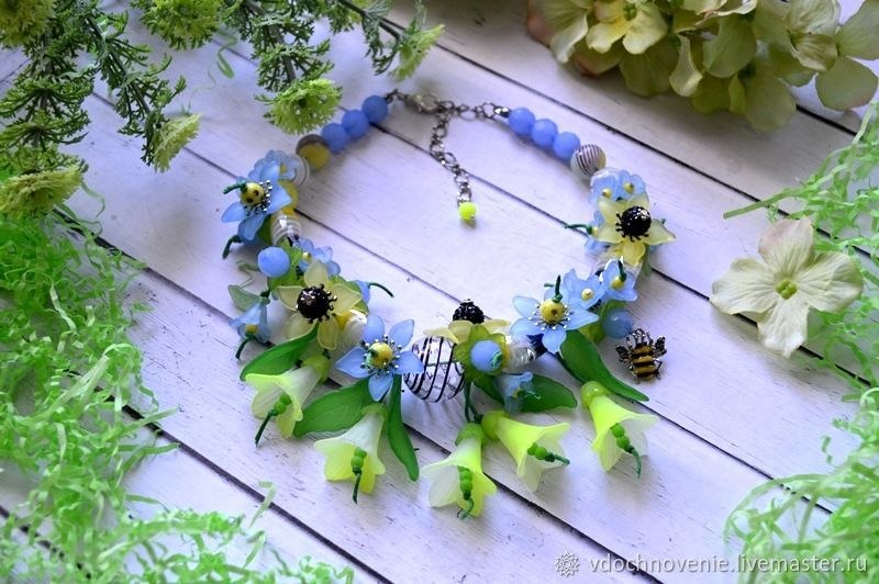 Jewelry set for girls 'Bee Paradise', Gift for newborn, Kolomna,  Фото №1