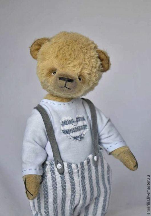 Мишки Тедди ручной работы. Ярмарка Мастеров - ручная работа. Купить Степка. Handmade. Бежевый, подарок на день рождения