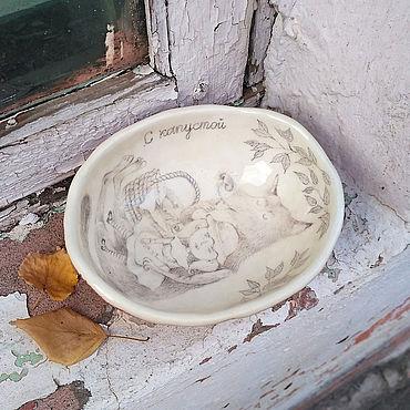 Посуда ручной работы. Ярмарка Мастеров - ручная работа С капустой. Handmade.