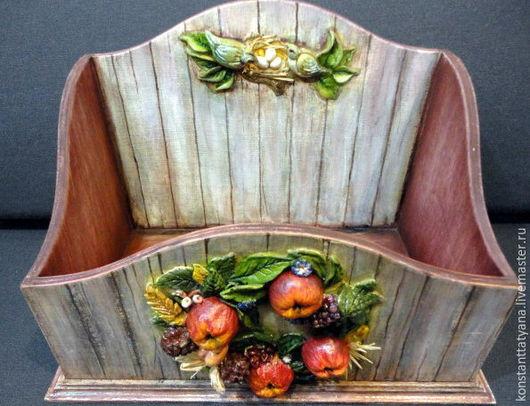 """Кухня ручной работы. Ярмарка Мастеров - ручная работа. Купить """" Осенняя рапсодия"""" короб для хранения. Handmade. Комбинированный, подарок"""