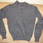 Винтаж handmade. Livemaster - original item Vintage clothing: Grey jumper turtleneck for boy AllSaints 8 years old. Handmade.