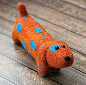 Куклы и игрушки ручной работы. Ярмарка Мастеров - ручная работа Такса Тамара - собака - войлочная игрушка. Handmade.
