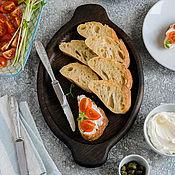 Для дома и интерьера handmade. Livemaster - original item Plate of bread and cheese. Handmade.