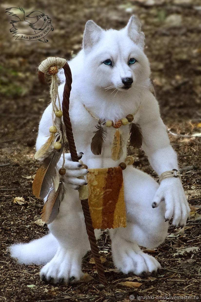 Волк своими руками из волос фото 498