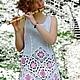 Платья ручной работы. Ярмарка Мастеров - ручная работа. Купить Платье,,Мелодия для флейты...,,. Handmade. Платье, платье вязаное