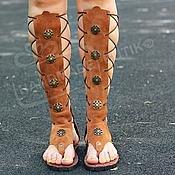 Обувь ручной работы handmade. Livemaster - original item Gladiators sand natural suede. Handmade.