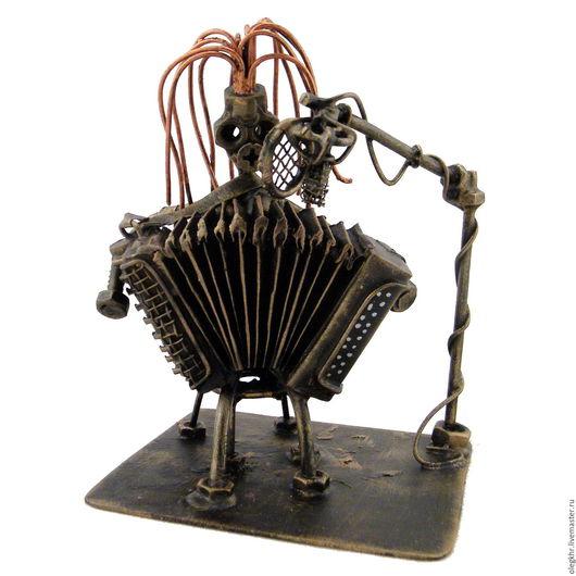 Миниатюрные модели ручной работы. Ярмарка Мастеров - ручная работа. Купить Аккордеонистка. Handmade. Скульптурная миниатюра, куклы и игрушки