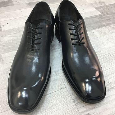 Обувь ручной работы. Ярмарка Мастеров - ручная работа Оксфорды цельнокройные. Handmade.