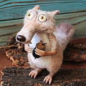 Куклы и игрушки handmade. Livemaster - original item Squirrel from the ice age Scrat. Handmade.