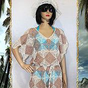 Одежда handmade. Livemaster - original item Beach tunic crochet Warm sand.. Handmade.