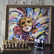 Картины и панно handmade. Livemaster - original item Venetian mask. . Buy a painting with a mask. mask. Handmade.