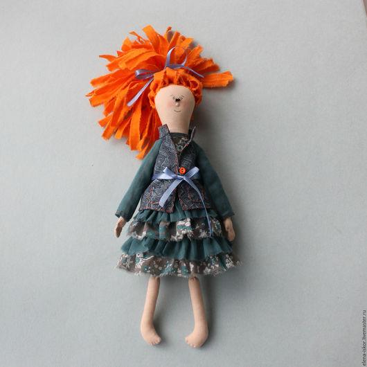 Коллекционные куклы ручной работы. Ярмарка Мастеров - ручная работа. Купить Текстильная кукла Люся. Handmade. Серый, кукла в подарок