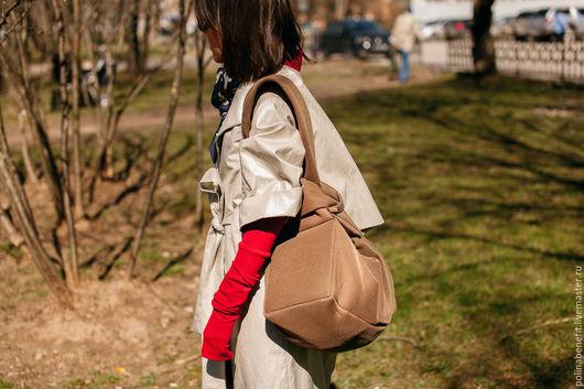 Женские сумки ручной работы. Ярмарка Мастеров - ручная работа. Купить сумка-трансформер, цвет кедра. Handmade. Сумка женская