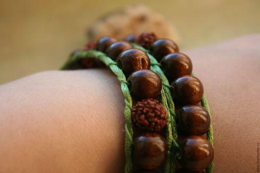 Браслеты ручной работы. Ярмарка Мастеров - ручная работа. Купить Браслет-намотка, браслет Чан Лу (Chan Luu)  в стиле бохо-этно Зелень. Handmade.