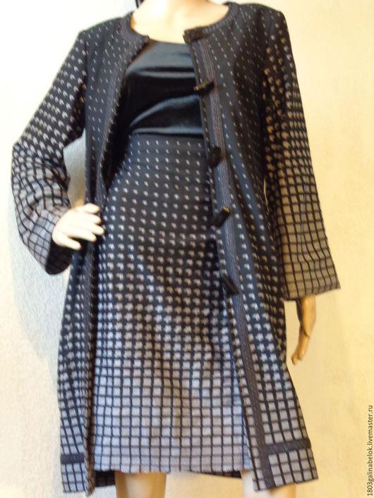 Верхняя одежда ручной работы. Ярмарка Мастеров - ручная работа. Купить Кардиган Летнее пальто из джерси. Handmade. Черный