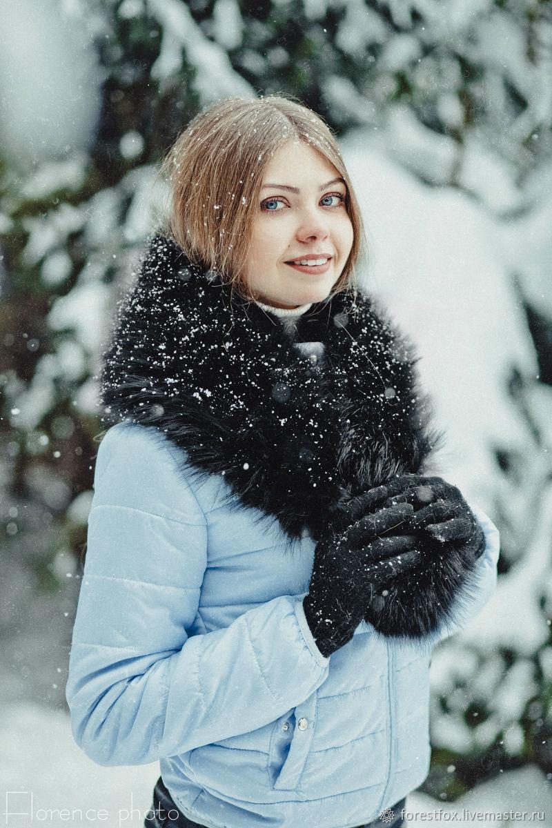 Black Fur Collar for Coat - Detachable Collars Women, Collars, Moscow,  Фото №1
