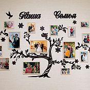 Слова ручной работы. Ярмарка Мастеров - ручная работа Семейное дерево с фоторамками. Handmade.