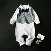 Комплекты одежды ручной работы. Ярмарка Мастеров - ручная работа Слип-жилет Маленький джентельмен. Handmade.