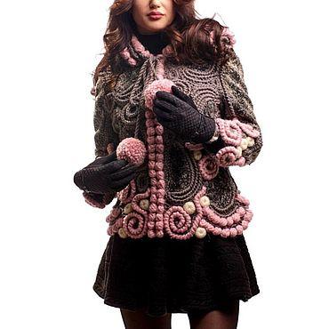 Одежда ручной работы. Ярмарка Мастеров - ручная работа Жакет вязаный женский. Handmade.