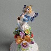 Для дома и интерьера ручной работы. Ярмарка Мастеров - ручная работа Колокольчик с эльфом и орхидеей. Handmade.
