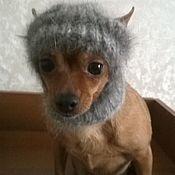 Для домашних животных, ручной работы. Ярмарка Мастеров - ручная работа шапочка из кроличьего пуха для собачки.. Handmade.