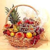 Подарки к праздникам ручной работы. Ярмарка Мастеров - ручная работа Корзина с фруктами Подарочная. Handmade.