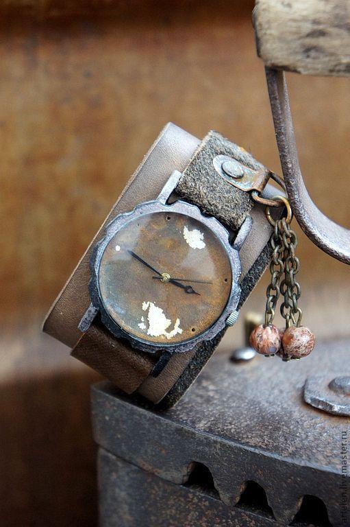 """Часы ручной работы. Ярмарка Мастеров - ручная работа. Купить Часы """"Старинные"""". Handmade. Кожа натуральная, часы, дизайнерские часы"""
