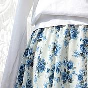 Одежда ручной работы. Ярмарка Мастеров - ручная работа Юбка полусолнце, длинною в пол. Handmade.