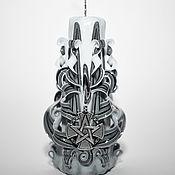 Свечи ручной работы. Ярмарка Мастеров - ручная работа Резная свеча. Готика. Крест Тамплиеров. Пентаграмма. Handmade.