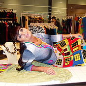 """Одежда ручной работы. Ярмарка Мастеров - ручная работа Летнее платье """"ХУНДЕРТВАССЕР""""-2 хлопок. Handmade."""