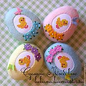 Eggs handmade. Livemaster - original item Easter eggs out of felt with embroidery. Handmade.