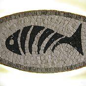 """Для дома и интерьера ручной работы. Ярмарка Мастеров - ручная работа Светильник-мозаичное панно """"Рыба по-чёрному"""". Handmade."""