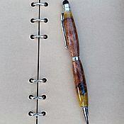 Письменные наборы ручной работы. Ярмарка Мастеров - ручная работа Шариковая Сенсорная ручка Stilus из дерева янтаря. Handmade.